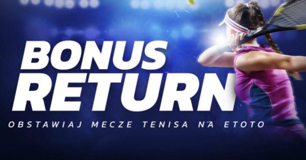 100 PLN zwrotu w Etoto na obstawianie tenisa